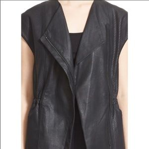 Vince perforated leather vest